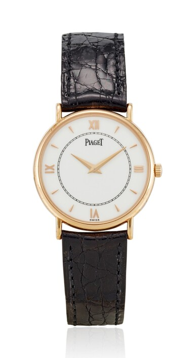 View 1. Thumbnail of Lot 8269. PIAGET | REFERENCE 8025N, A LIMITED EDITION PINK GOLD WRISTWATCH, MADE TO COMMEMORATE THE 120TH ANNIVERSARY OF PIAGET, CIRCA 1997.