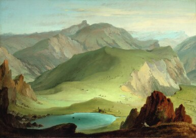 CASPAR WOLF  |  VIEW FROM THE MUNTIGALM ACROSS LAKE SEEBERG TOWARD THE STOCKHORN CHAIN