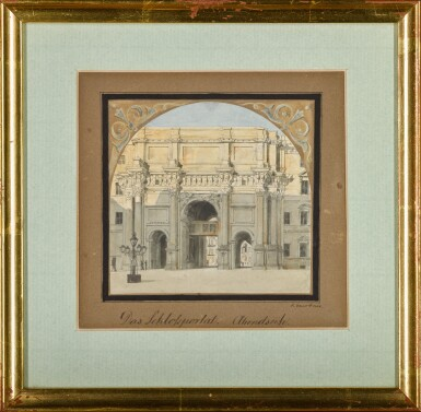 View 2. Thumbnail of Lot 69. Das Schloßportal, Abendseite (West elevation of the Palace Gate).