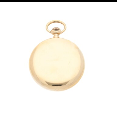 View 2. Thumbnail of Lot 56. RETAILED BY JAQUES & MARCUS, NEW YORK: A PINK GOLD OPEN FACED WATCH, CIRCA 1900.