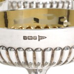 A SET OF SIX EDWARDIAN SILVER CHAMPAGNE COUPES, WALKER & HALL, SHEFFIELD, 1907