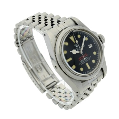 View 9. Thumbnail of Lot 125. REFERENCE 1665 'DOUBLE RED' SEA DWELLER A STAINLESS STEEL WRISTWATCH DATE AND BRACELET, CIRCA 1978.
