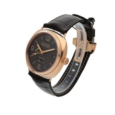 View 2. Thumbnail of Lot 46. PANERAI | RADIOMIR 8 DAYS GMT ORO ROSSO, REF PAM00395 LIMITED EDITION PINK GOLD DUAL TIME WRISTWATCH WITH DATE, 24-HOUR AND 8-DAY POWER RESERVE INDICATION CIRCA 2018.