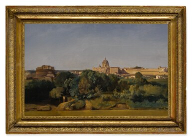 View 2. Thumbnail of Lot 576. Rome, a view of Saint Peter's and the Castel Sant'Angelo.