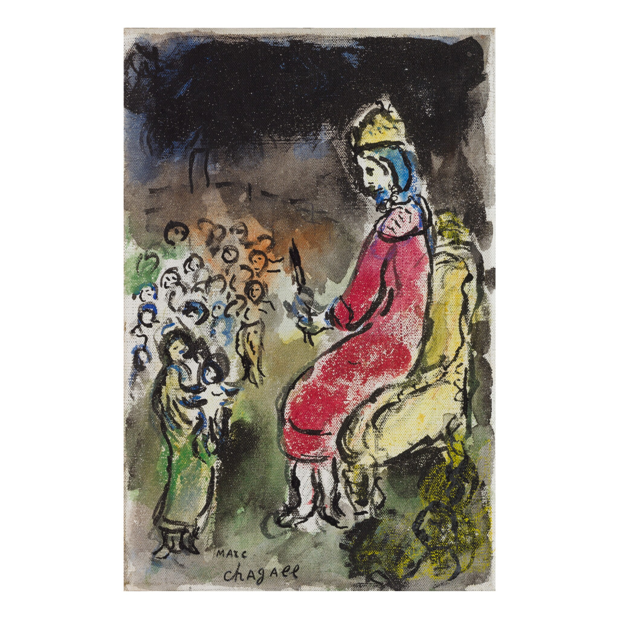 View full screen - View 1 of Lot 22. MARC CHAGALL | LE ROI DAVID.