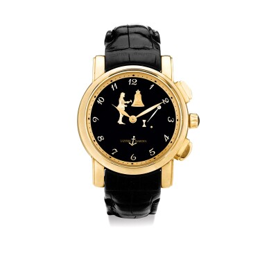 ULYSSE NARDIN   JAQUEMART SONNERIE EN PASSANT SAN MARCO, REFERENCE 756-88  A PINK GOLD HOUR STRIKING AND REPEATING WRISTWATCH WITH AUTOMATON JACQUEMARTS, CIRCA 2008