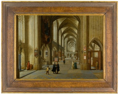 View 2. Thumbnail of Lot 30. The Interior of a Gothic Church | 《哥德式教堂內部》.