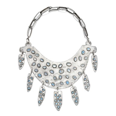 SILVER AND MOONSTONE NECKLACE, DESIGNED BY MILLICENT ROGERS | 銀鑲月亮石項鏈,Millicent Rogers