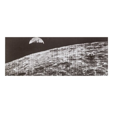 View 1. Thumbnail of Lot 2. LUNAR ORBITER I. THE FIRST IMAGE OF THE EARTH FROM THE MOON.