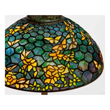 """View 3. Thumbnail of Lot 512. A Rare """"Butterfly"""" Table Lamp."""