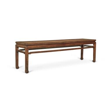 View 4. Thumbnail of Lot 116. A 'huanghuali' corner-leg long bench (Errendeng), Qing dynasty, 18th century   清十八世紀 黃花梨有束腰羅鍋棖馬蹄足貳人凳.