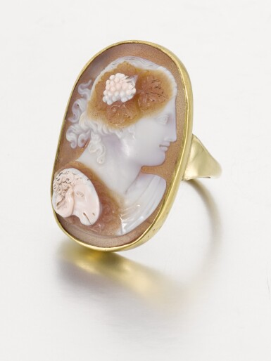 View 2. Thumbnail of Lot 112. ITALIAN, EARLY 19TH CENTURY | CAMEO WITH BACCHUS.