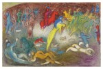 MARC CHAGALL | CHLOE IS CARRIED OFF BY THE METHYMNEANS (M. 327; SEE C. BKS. 46)