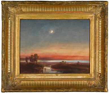 View 2. Thumbnail of Lot 209. Southern Italian landscape by moonlight.