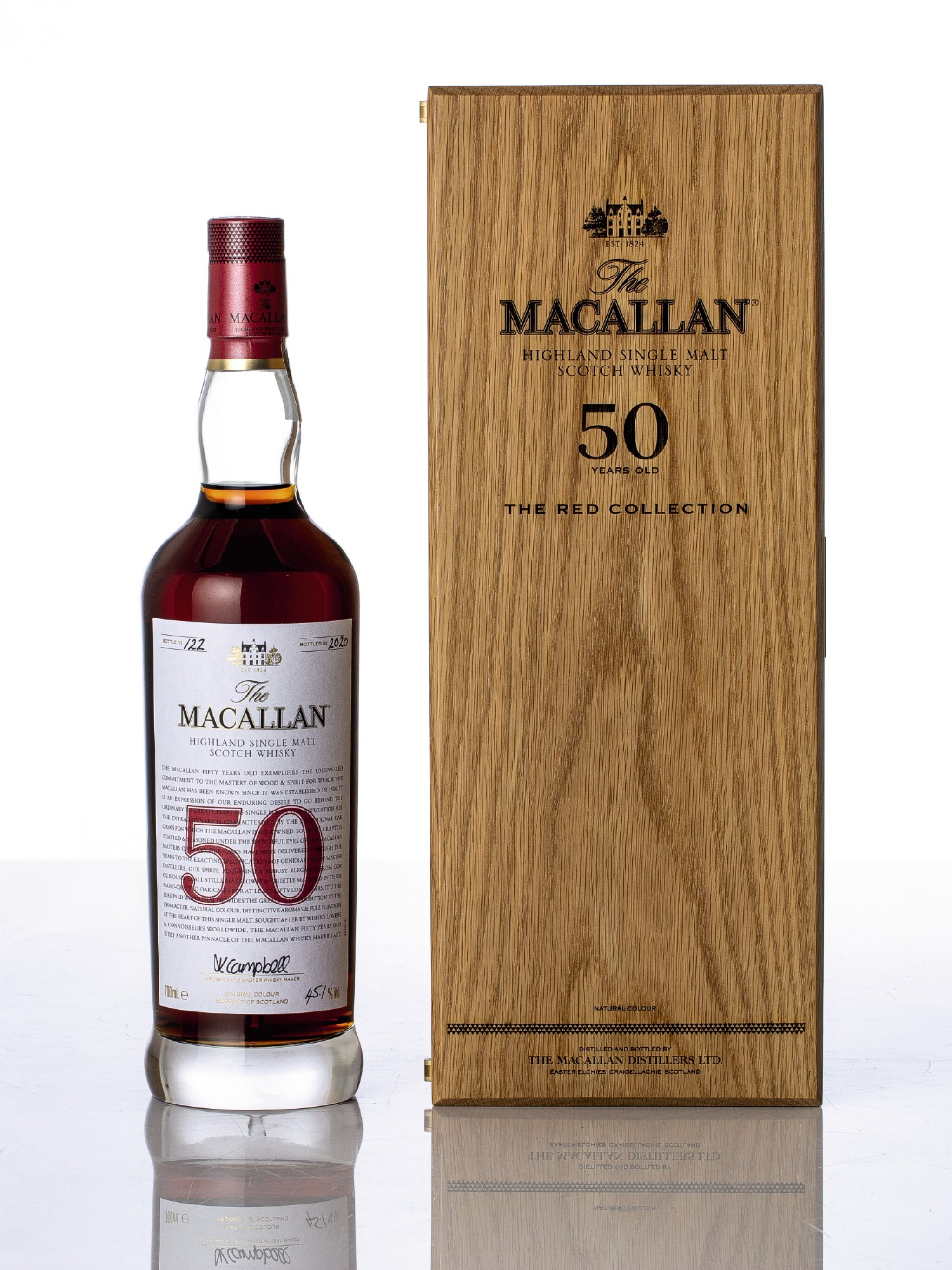 View full screen - View 1 of Lot 5518. The Macallan The Red Collection 50 Year Old 45.1 abv NV (1 BT70).