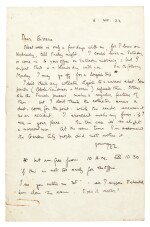 T.E. LAWRENCE | autograph letter signed, to C.S. Evans, 6 August 1922