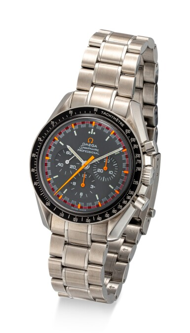 """View 2. Thumbnail of Lot 8101. OMEGA   SPEEDMASTER PROFESSIONAL MOONWATCH """"JAPAN RACING"""", REFERENCE 3570.40.00  A LIMITED EDITION STAINLESS STEEL CHRONOGRAPH WRISTWATCH WITH BRACELET, CIRCA 2005   歐米茄    超霸系列專業月球錶 """"Japan Racing"""" 型號3570.40.00   限量版精鋼計時鏈帶腕錶,約2005年製."""