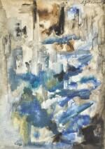 NATALIA SERGEEVNA GONCHAROVA | Composition in Blue