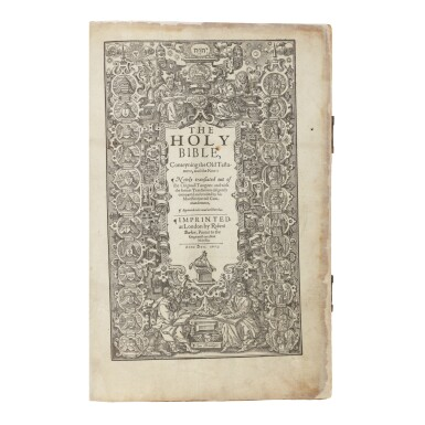BIBLE IN ENGLISH (KING JAMES VERSION) | The Holy Bible, Conteyning the Old testament and the new: Newly Translated out of the Originall Tongues: and with the former Translations diligently compared and revised by his Maiesties special Commandement. London: Robert Barker, 1613
