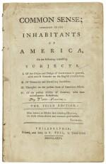 [Paine, Thomas]. Common Sense; Addressed to the Inhabitants of America . . . Philadelphia: R. Bell, 1776