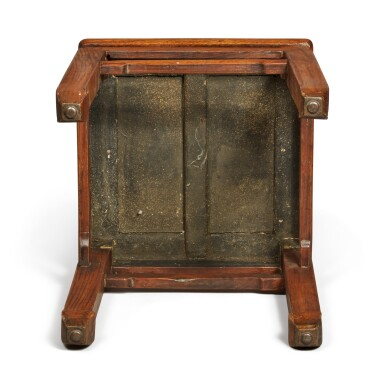 View 5. Thumbnail of Lot 146. A 'huanghuali' stool, Qing dynasty .