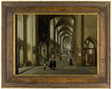 View 2. Thumbnail of Lot 19.  The Interior of a Gothic Church |《哥德式教堂內部》.