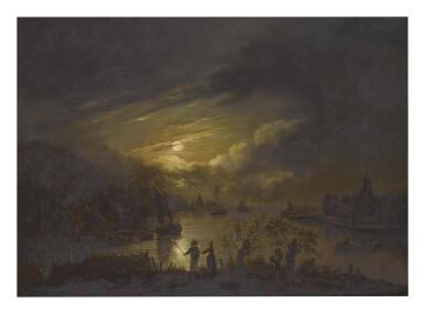 MANNER OF AERT VAN DER NEER | A RIVER VIEW BY MOONLIGHT