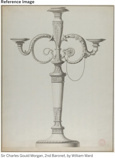 View 4. Thumbnail of Lot 36. A PAIR OF GEORGE III SILVER FOUR-LIGHT CANDELABRA AFTER A DESIGN BY JEAN-GUILLAUME MOITTE, BRITANNIA STANDARD, PAUL STORR, LONDON, 1797-98.