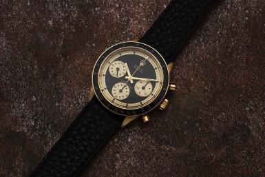 View 8. Thumbnail of Lot 220. Reference 6241 Daytona Paul Newman 'John Player Special'  A yellow gold chronograph wristwatch, Circa 1968.