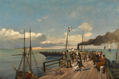 CONSTANTINOS VOLANAKIS | The Departure of the PostalSteam Packet
