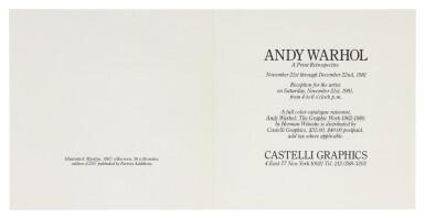ANDY WARHOL   MARILYN (INVITATION) (NOT IN FELDMAN & SCHELLMANN)