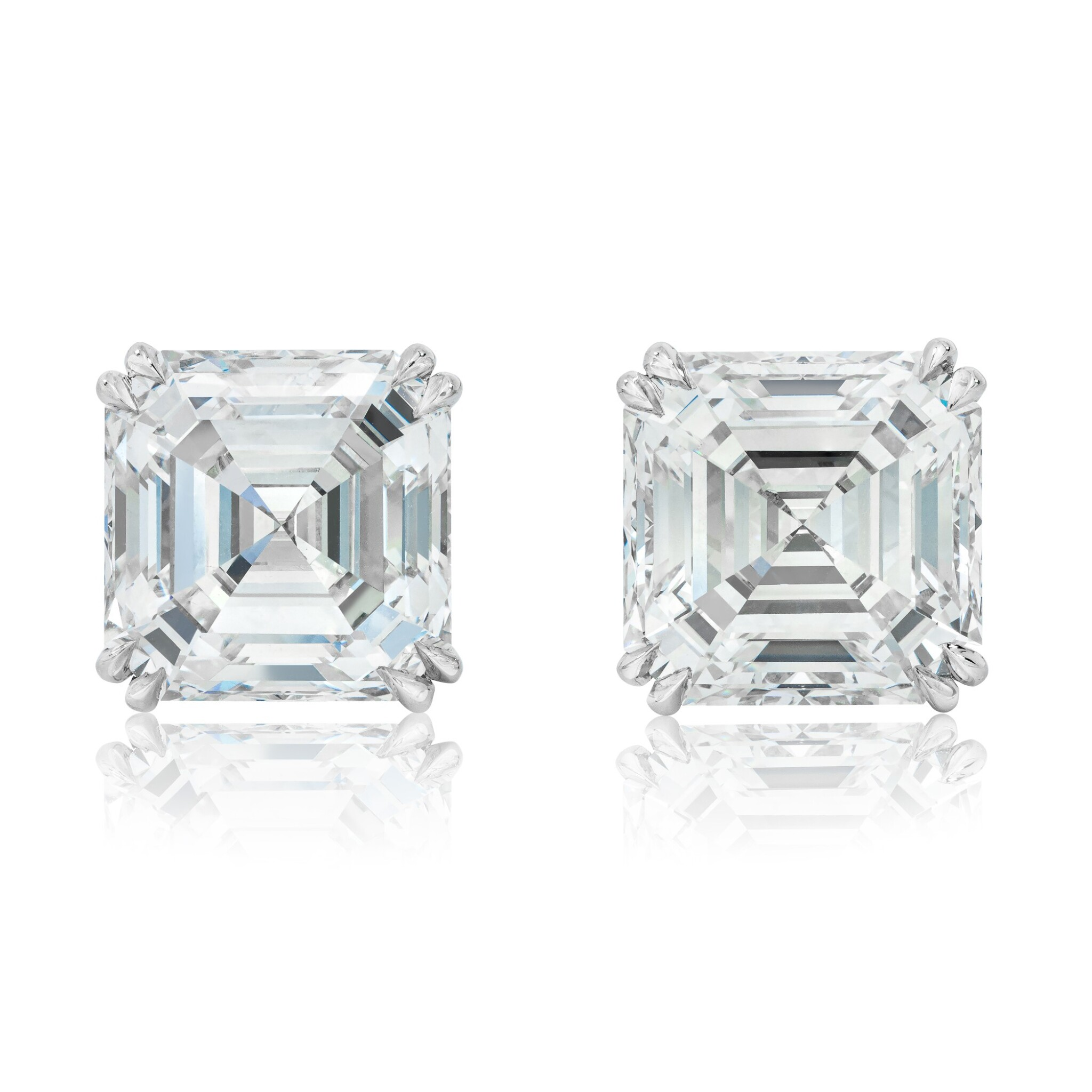 View full screen - View 1 of Lot 19. Pair of Diamond Earstuds.