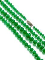 Jadeite Bead and Diamond Necklace | 天然翡翠珠 配 鑽石 項鏈