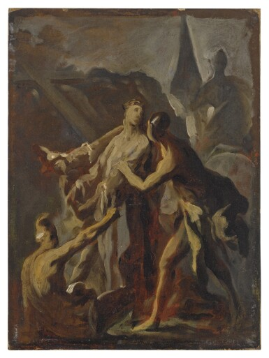 View 2. Thumbnail of Lot 590. The disrobing of Christ.