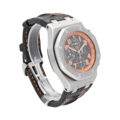 """View 2. Thumbnail of Lot 43. Royal Oak Offshore """"Volcano"""" Chronograph reference 26170ST.00.D101CR.01 A stainless steel automatic chronograph wristwatch with date, circa 2010."""