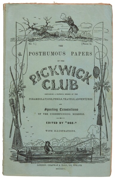 Dickens, The Posthumous Papers of the Pickwick Club, 1836-1837, 19/20 original parts