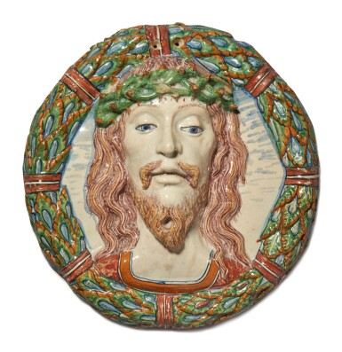 View 1. Thumbnail of Lot 739. Relief Roundel with the head of Christ.
