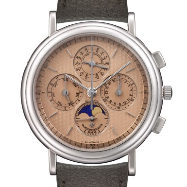 VACHERON CONSTANTIN   PLATINUM, CHRONOGRAPH, PERPETUAL CALENDAR WITH MOON-PHASES INDICATIONS, AUTOMATIC GENTLEMAN'S WRISTWATCH, REF 49005/000P