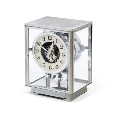 View 2. Thumbnail of Lot 50. J.L. REUTTER | RETAILED BY TIFFANY & CO.: ATMOS,  A RARE AND EARLY CHROME PLATED PERPETUAL CLOCK WOUND BY BAROMETRIC PRESSURE, CIRCA 1935 .