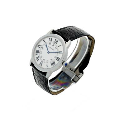 View 2. Thumbnail of Lot 116. CARTIER   REFERENCE 3603 RONDE SOLO DE CARTIER A STAINLESS STEEL WRISTWATCH WITH DATE, CIRCA 2016.