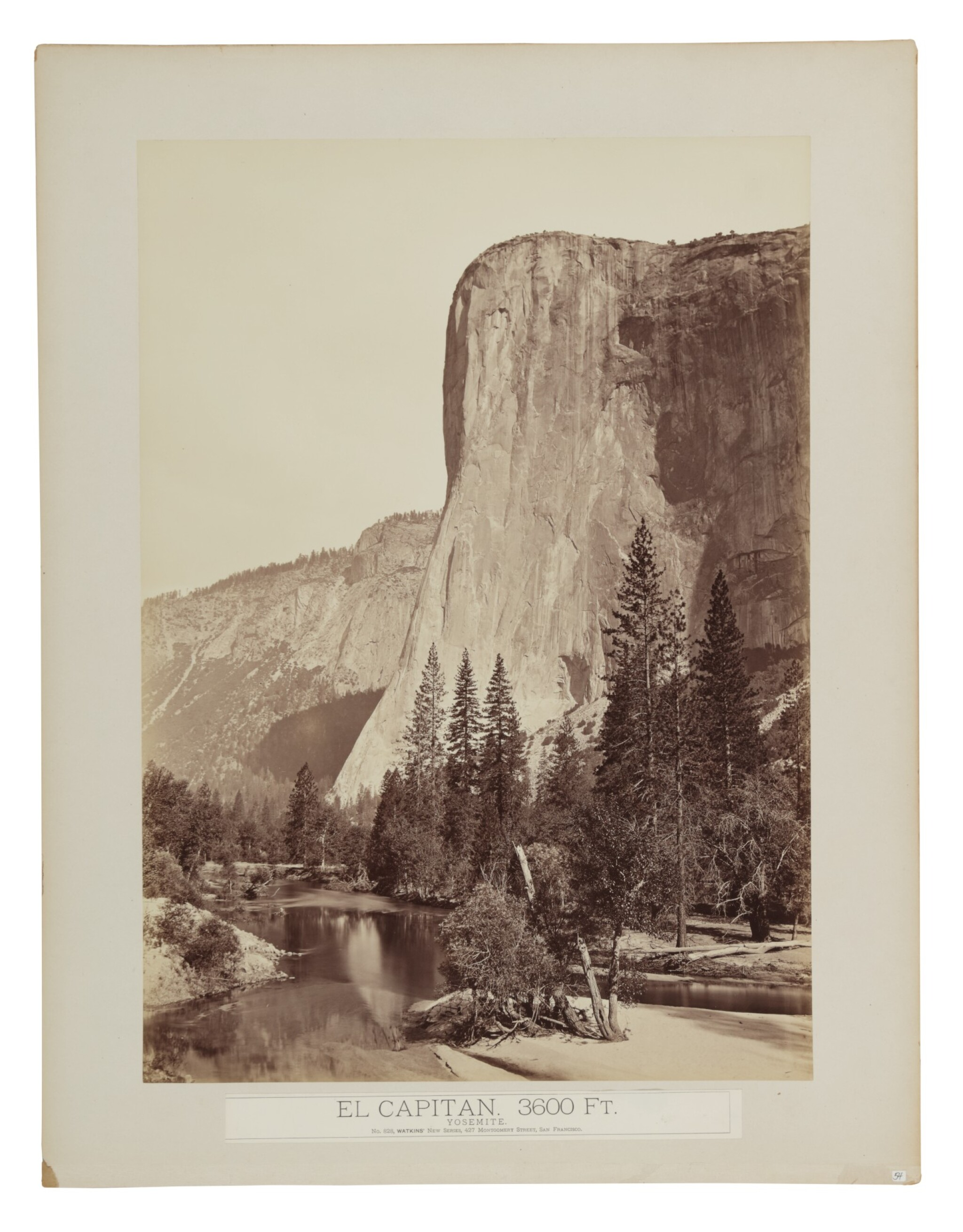 View full screen - View 1 of Lot 46. 'El Capitan. 3600 Ft. Yosemite'.