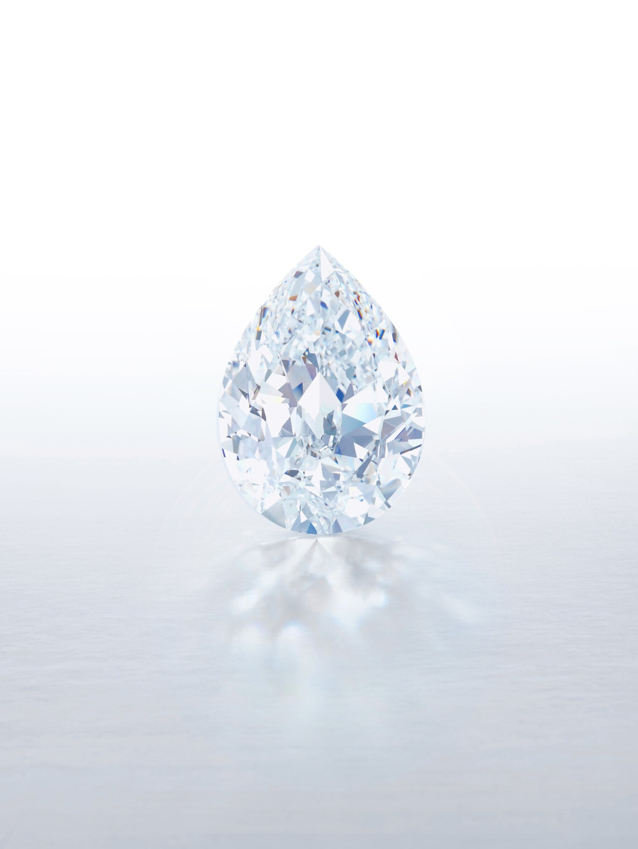 View full screen - View 1 of Lot 1. An Exceptional and Magnificent Unmounted Diamond | 無與倫比並極其重要 101.38克拉 梨形 D色 完美無瑕 Type IIa 巨鑽.