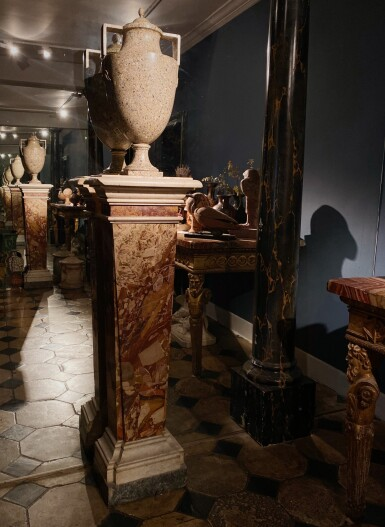 View 3. Thumbnail of Lot 141. Italian, Rome or Naples, 18th century | Pair of Pilaster Columns.