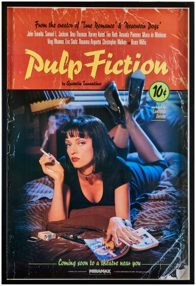 View 3. Thumbnail of Lot 178. Photography by Firooz Zahedi, USA, 1994 | Pulp Fiction Poster.
