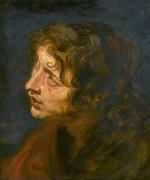 FOLLOWER OF SIR ANTHONY VAN DYCK | Study ofa saint's head