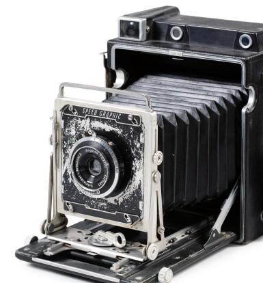 View 1. Thumbnail of Lot 3. Graflex Speed Graphic camera.