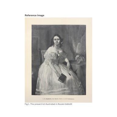View 2. Thumbnail of Lot 8. PIMEN NIKITICH ORLOV |Portrait of Sofia Nikolaevna Karamzina.