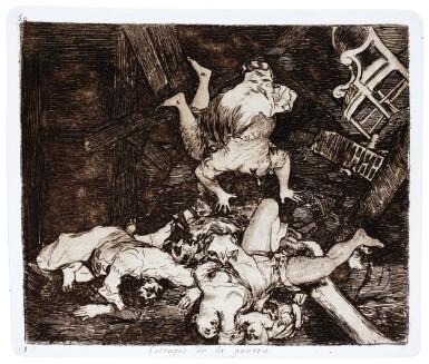View 1. Thumbnail of Lot 195. Goya, Los desastres de la guerra, Madrid, 1892, later cloth-backed boards.