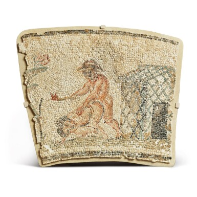 View 1. Thumbnail of Lot 167. Nilotic, Roman, circa 2nd Century A.D. | Mosaic Border Fragment.