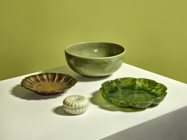 View 6. Thumbnail of Lot 1132. A CARVED 'LONGQUAN' CELADON-GLAZED 'LOTUS' BOWL, MING DYNASTY, 15TH CENTURY.